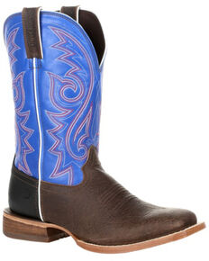 Durango Men's Arena Pro Glory Blue Western Boots - Square Toe, Brown, hi-res
