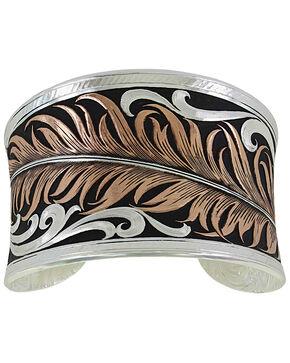 Montana Silversmiths Women's Hope's Feather Bracelet , Silver, hi-res