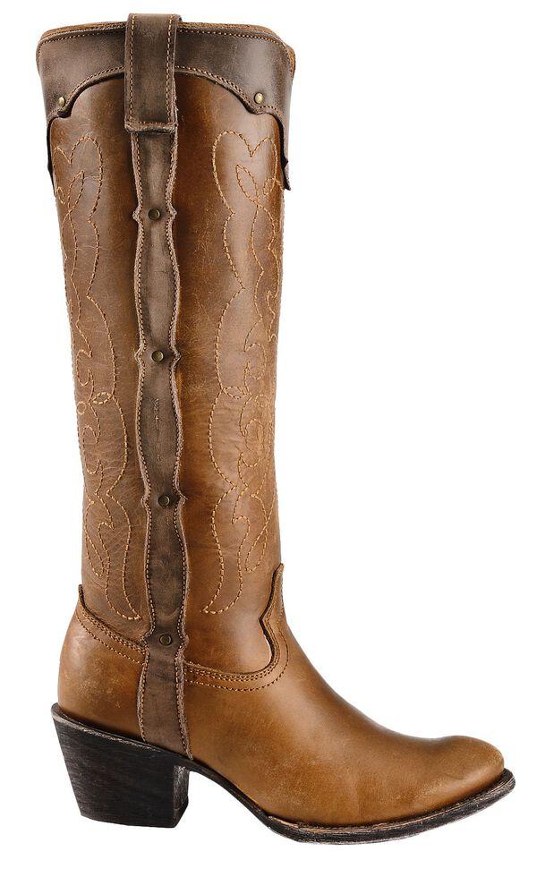 Corral Kats Natural Westport Cowgirl Boots - Round Toe, Natural, hi-res