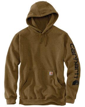 Carhartt Men's Mid Weight Hooded Logo Work Sweatshirt - Big , , hi-res