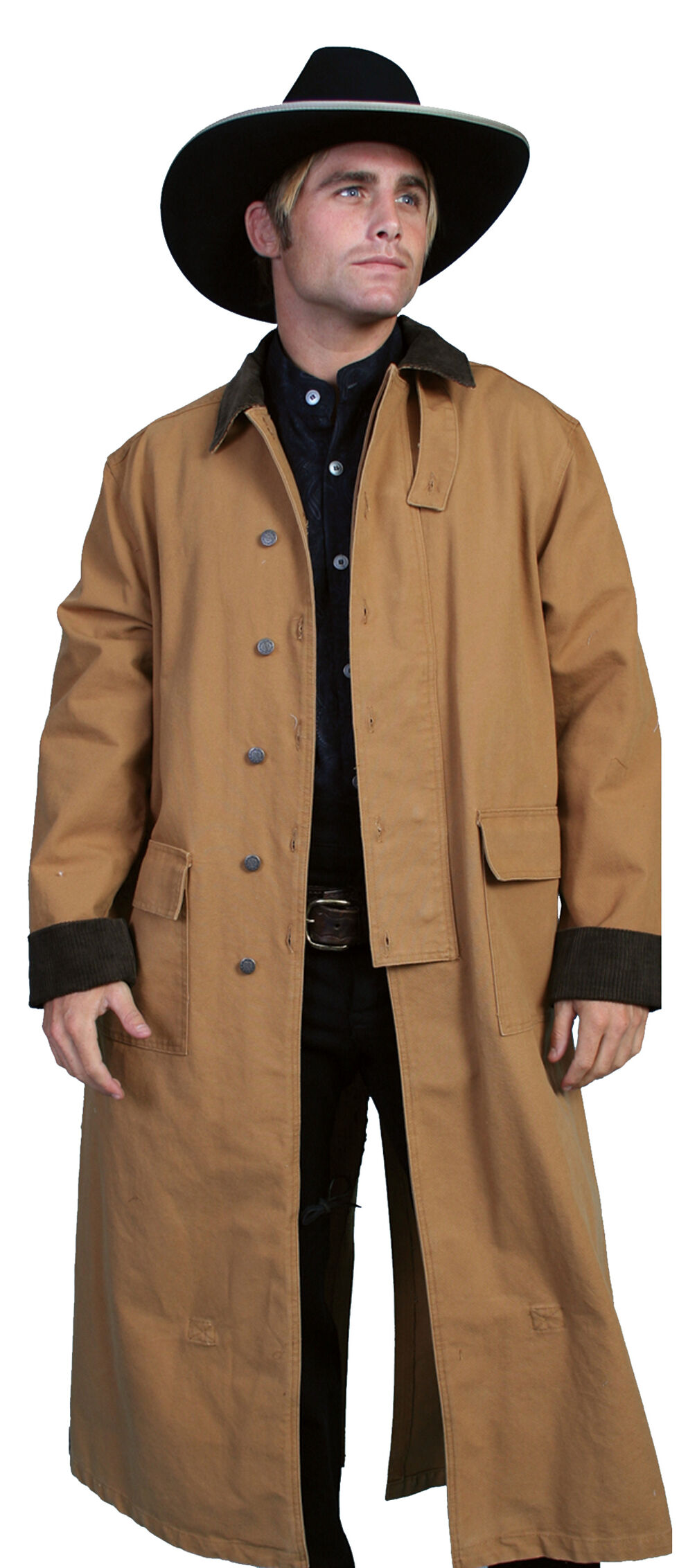 RangeWear by Scully Long Canvas Duster, Brown, hi-res