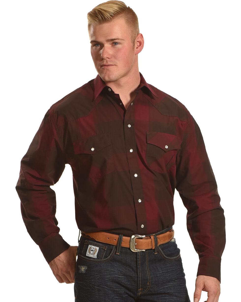 Resistol Men's Burgundy Jefferson Snap Down Shirt , Burgundy, hi-res