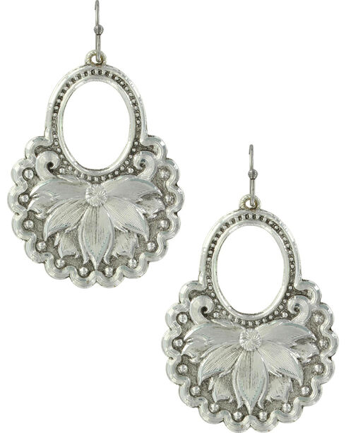 Montana Silversmiths Women's Holding onto Nature Earrings , Silver, hi-res