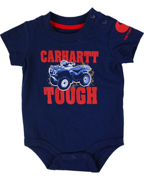 Carhartt Infant Boys' Navy Carhartt Tough Onesie , Navy, hi-res