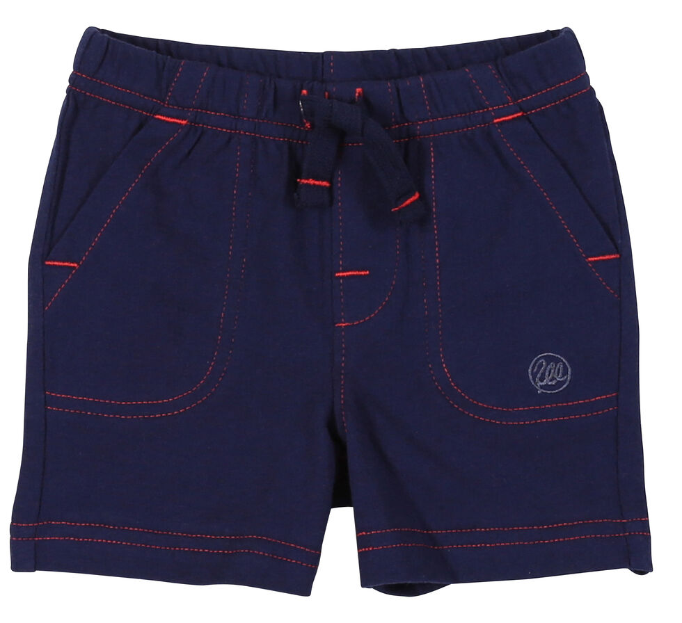 Wrangler Toddler Boys' Navy Drawstring Knit Shorts (2T-4T), Navy, hi-res