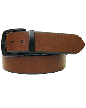 John Deere Men's Brown Reversible Twist Buckle Belt , Brown, hi-res