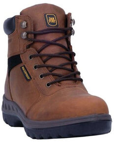 Dan Post Men's Burgess Waterproof Work Boots - Steel Toe, Tan, hi-res