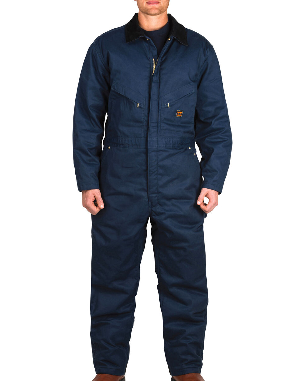 Walls Garland Zero Zone Insulated Coveralls - Big and Tall, Navy, hi-res