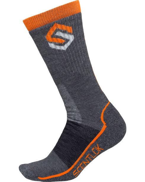Scentlok Technologies Men's Merino Hiking Socks, Charcoal, hi-res