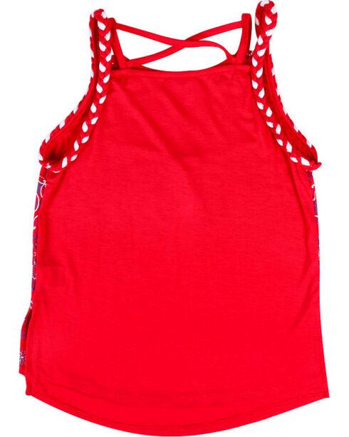 Ransom Girls' Bandana Tank Top, Red, hi-res