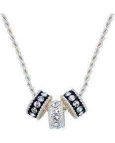 Montana Silversmiths Crystal Shine Three Ring Necklace, Silver, hi-res