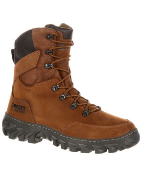 Rocky Men's S2V Jungle Hunter Waterproof 200G Insulated Outdoor Boots, Brown, hi-res