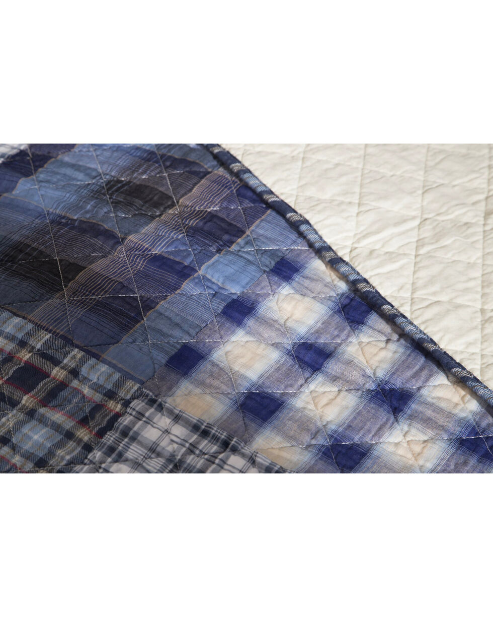 Carstens Ranch Hand King Quilt, Blue, hi-res