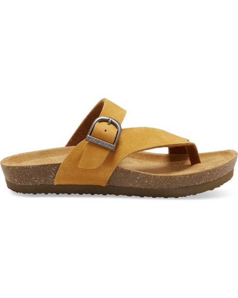 Eastland Women's Tan Shauna Adjustable Thong Sandals , Tan, hi-res