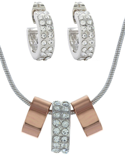 Montana Silversmiths Rose Gold and Double Shine Jewelry Set, Multi, hi-res