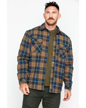 Hawx Men's Plaid Long Sleeve Multi-Quilted Flannel Work Shirt Jacket, Multi, hi-res
