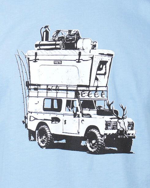 Yeti Men's Adventure Vehicle Graphic Tee , Light/pastel Blue, hi-res