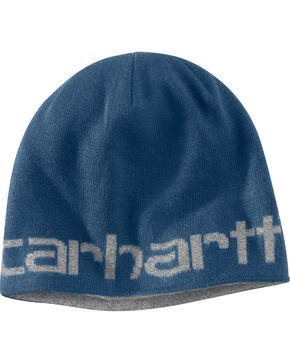 Carhartt Men's Dark Blue Greenfield Reversible Hat, Dark Blue, hi-res