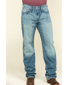 Cinch Men's White Label Light Stone Relaxed Straight Jeans , Indigo, hi-res