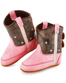 Old West Infant Girls' Brown Poppet Boots - Round Toe, Brown, hi-res