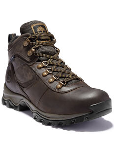 Timberland Men's Mt. Maddsen Waterproof Hiker Boots - Round Toe, Brown, hi-res