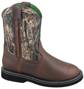 Smoky Mountain Boys' Hickory Wellington Western Boots - Round Toe, Camouflage, hi-res