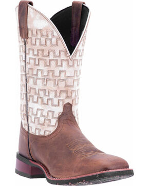 Laredo Men's Sand Stitched Western Boots - Square Toe , Sand, hi-res