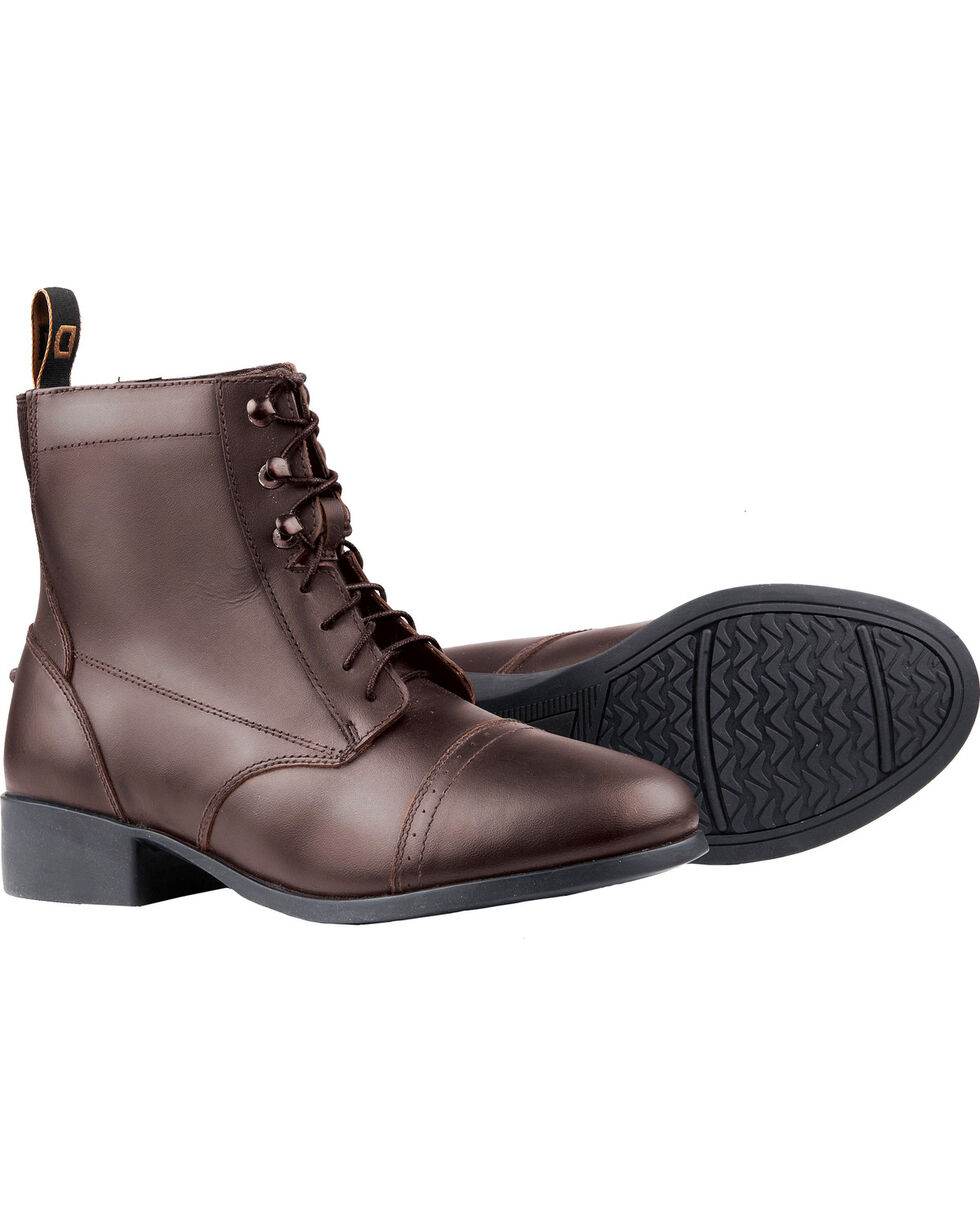 Dublin Foundation Laced Paddock Brown Equestrian Boots, Brown, hi-res