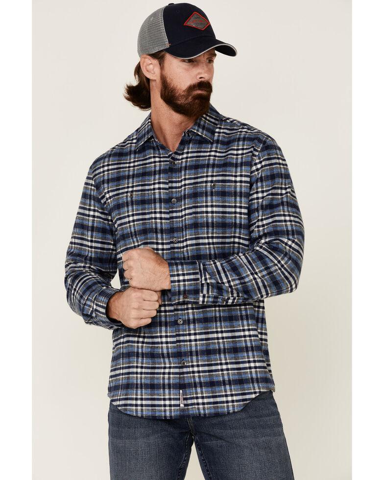 Flag & Anthem Men's Black Berks Stretch Plaid Long Sleeve Western Flannel Shirt , Black, hi-res