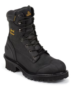 Chippewa Oiled Waterproof Logger Boots - Composition Toe, Black, hi-res