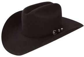Resistol 6X City Limits George Strait Black Fur Felt Cowboy Hat, Black, hi-res