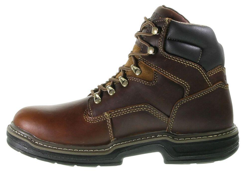 "Wolverine 6"" Raider Lace-Up Work Boots - Round Toe, Brown, hi-res"