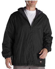 Dickies Men's Fleece Lined Hooded Work Jacket, Black, hi-res