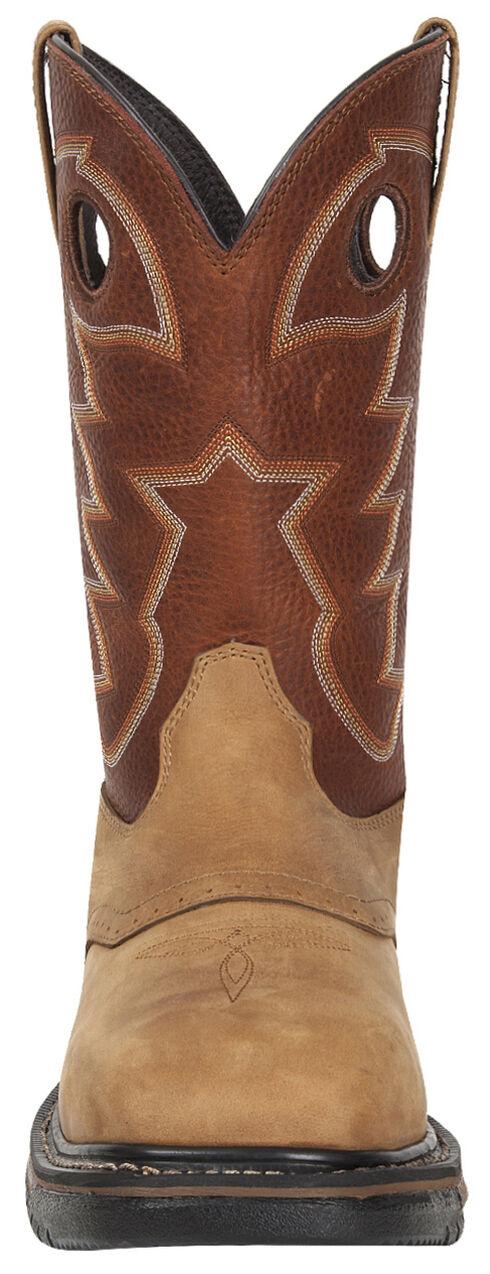 Rocky Men's Original Ride Steel Toe Waterproof Western Boots, Tan, hi-res