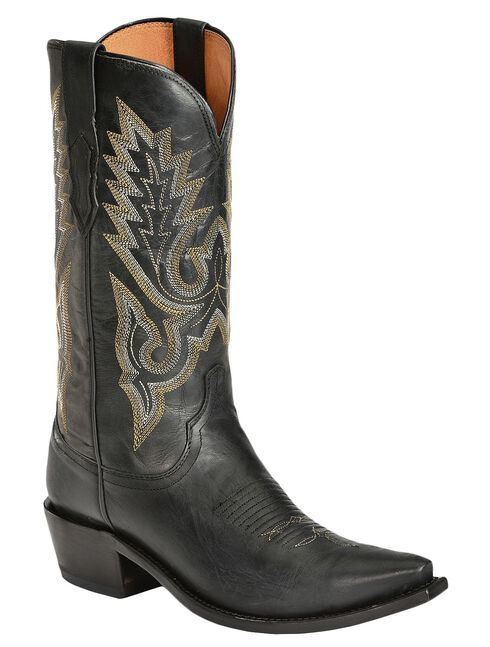 Lucchese Handcrafted 1883 Madras Goat Cowboy Boots - Snip Toe, Black, hi-res