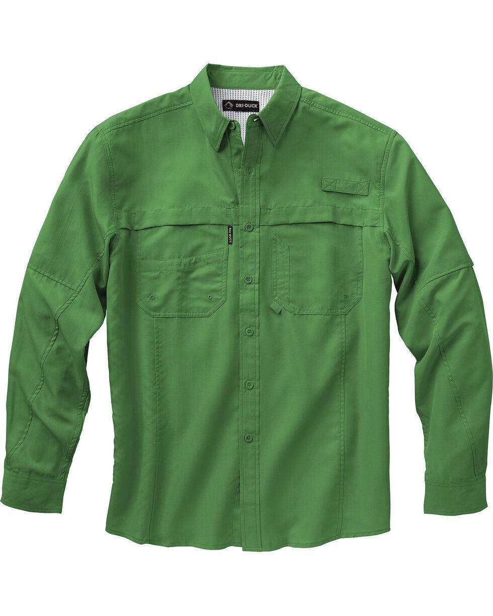 Dri Duck Men's Catch Long Sleeve Shirt, Green, hi-res