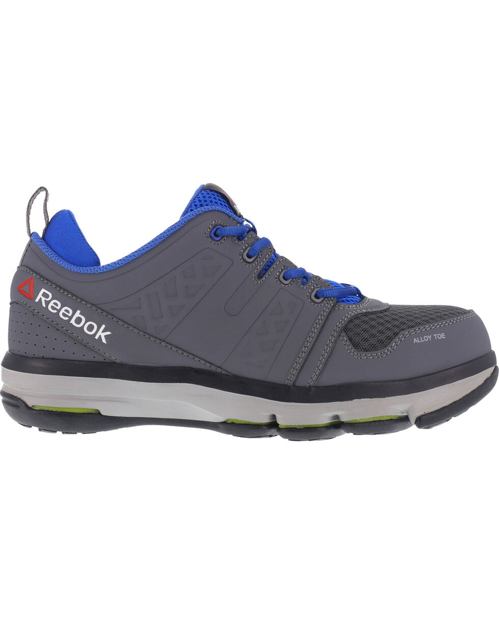 Reebok Men's Leather and Mesh Athletic Oxfords - Alloy Toe, Grey, hi-res