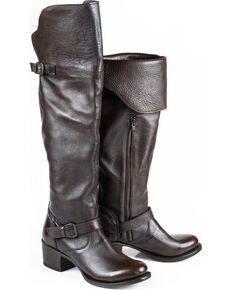 Stetson Women's Bianca Over The Knee Riding Boots - Round Toe, Brown, hi-res