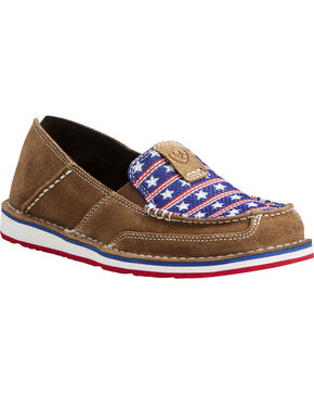 Ariat Women's Americana Cruiser Shoes - Moc Toe, Brown, hi-res