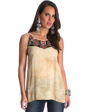 Wrangler Women's Tan Strappy Back Top , Multi, hi-res