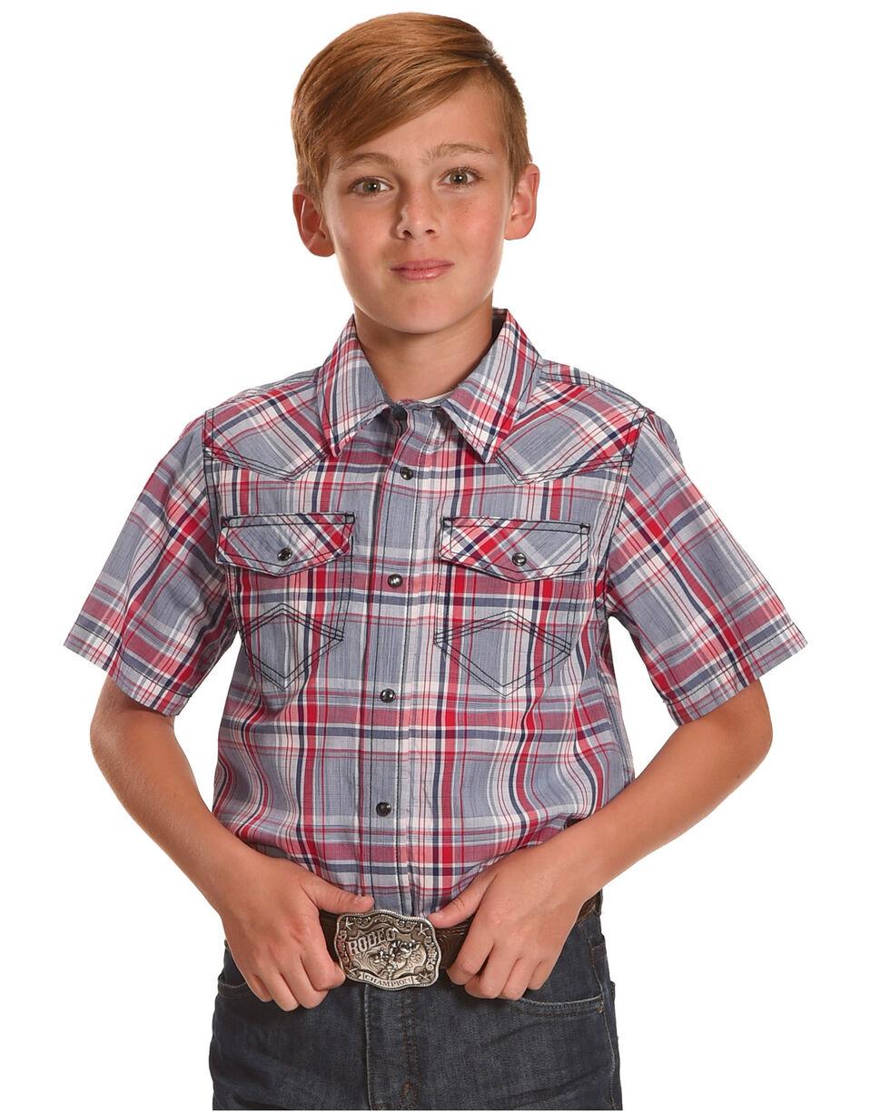 Cody James Boys' Rader Short Sleeve Shirt, Red, hi-res