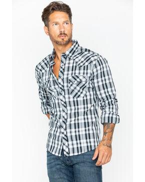 Wrangler Men's Black Fashion Long Sleeve Plaid Shirt , Black, hi-res