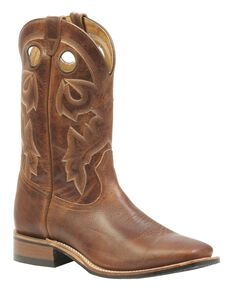 Boulet Men's Rider Sole Cowboy Boots - Square Toe, Brown, hi-res