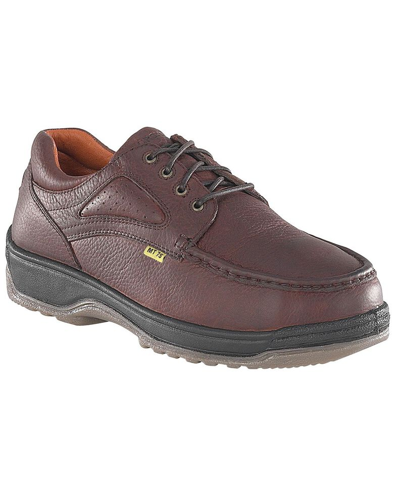 Florsheim Men's Compadre Internal Met Guard Lace-Up Oxford Shoes - Steel Toe, Brown, hi-res