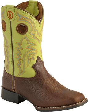 Tony Lama Youth Boys' Tiny Lama 3R Beige Cowboy Boots - Square Toe, Beige, hi-res