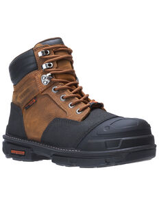 Wolverine Men's Yukon Carbonmax Work Boots - Composite Toe, Brown, hi-res