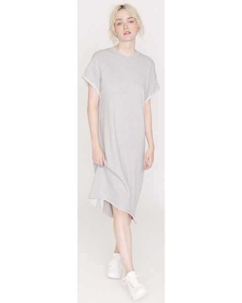 Friday's Project Women's Light Grey Sweatshirt Dress , Light Grey, hi-res