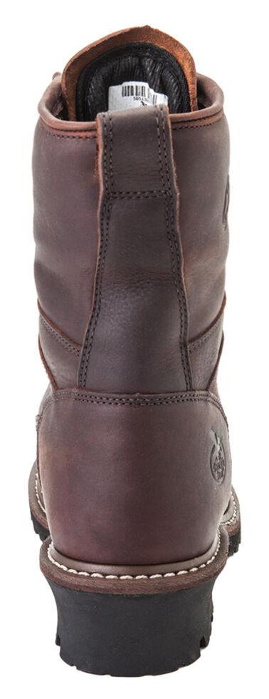 Georgia Waterproof Logger Boots - Round Toe, Chocolate, hi-res