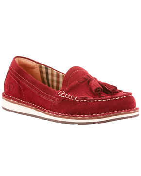 Ariat Women's Burgundy Tassel Cruiser Loafers , Burgundy, hi-res