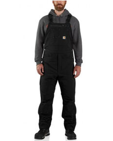 Carhartt Men's Black Super Ducx Relaxed Fit Insulated Work Bib Overalls , Black, hi-res